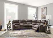 Harris Gray Three Piece Power Sectional