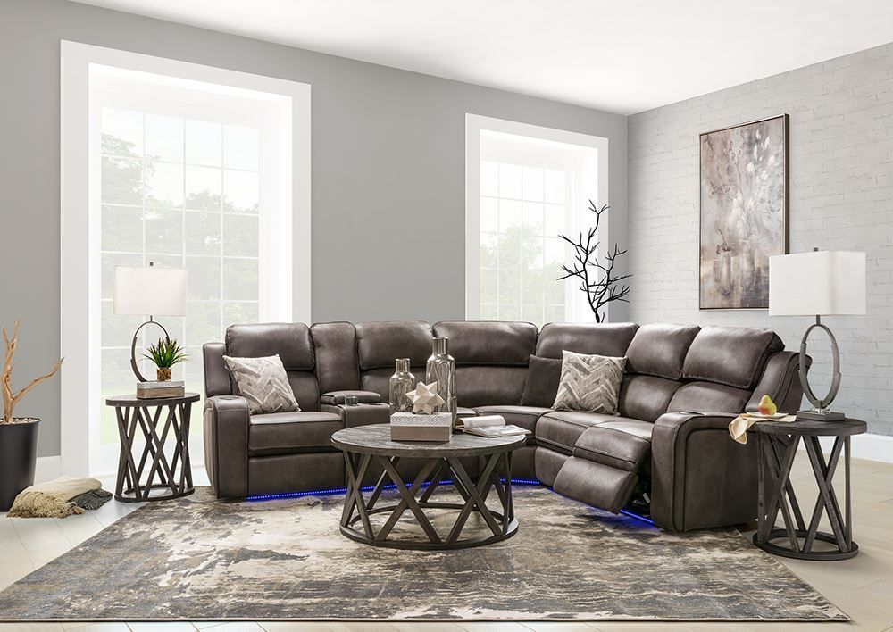 Picture of Harris Gray Three Piece Power Sectional