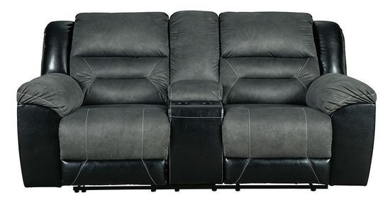 Picture of Earhart Slate Console Loveseat