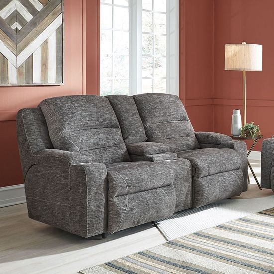 Picture of Beacon Power Reclining Console Loveseat