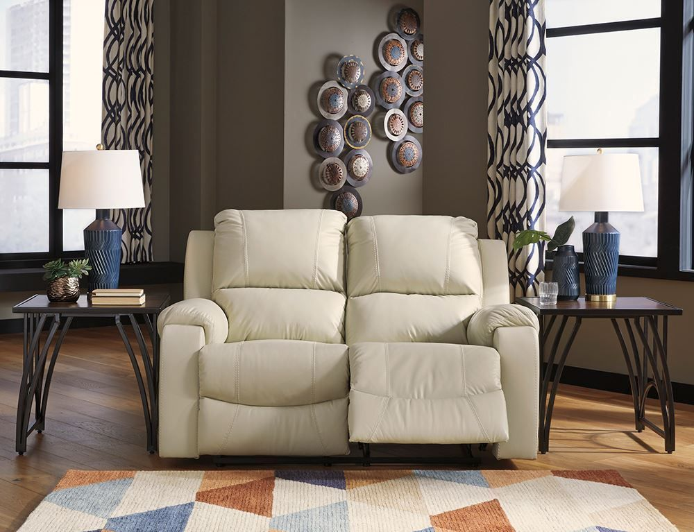 Picture of Rackingburg Cream Reclining Loveseat