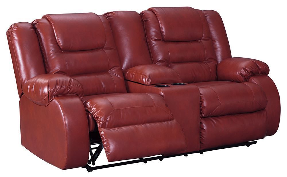 Picture of Vacherie Salsa Reclining Console Loveseat