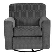 Zarina Graphite Swivel Chair