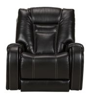 Stark Onyx Leather Power Recliner