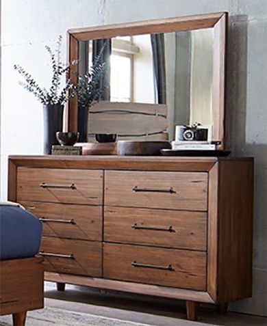 Denver Double Drawer Dresser and Mirror