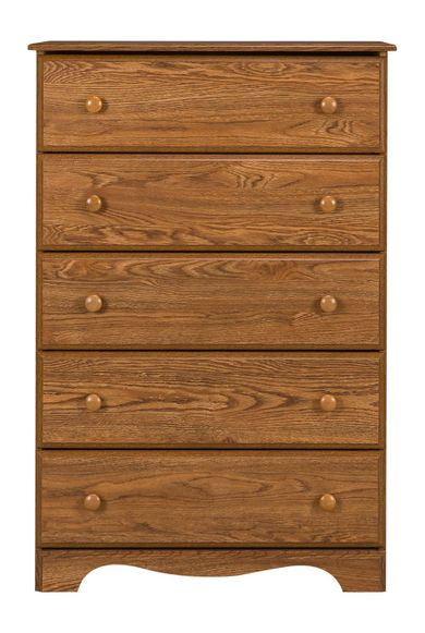 Autumn Oak Five Drawer Chest