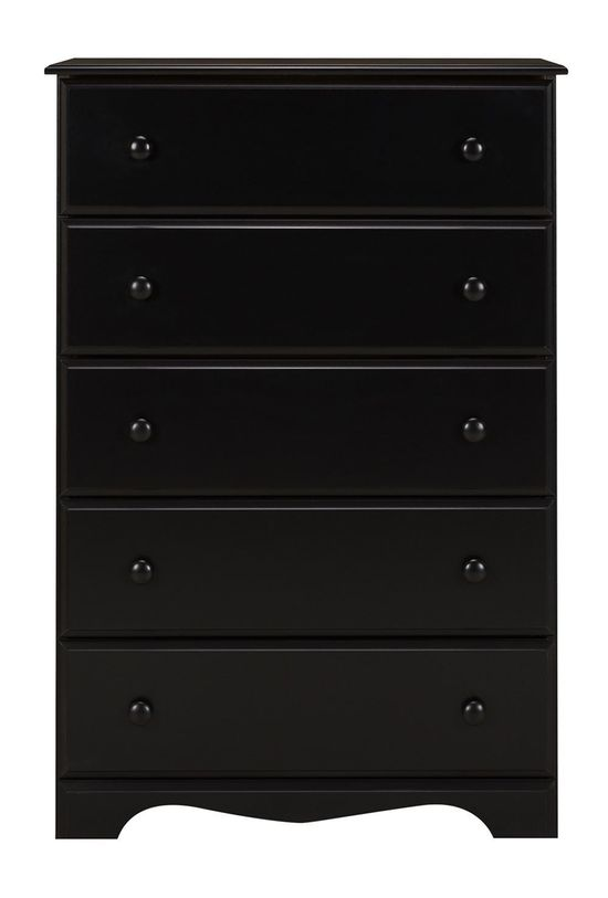 Picture of Black Five Drawer Chest