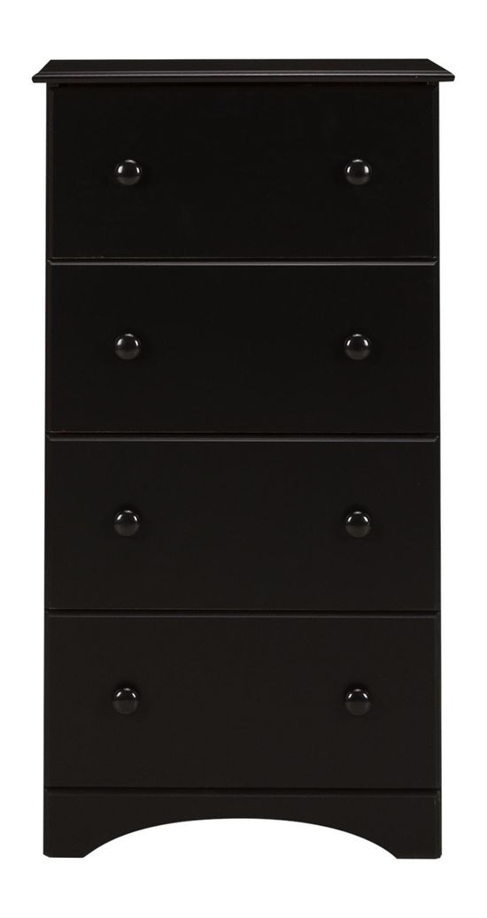 Picture of Black Four Drawer Chest