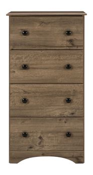 Grey Four Drawer Chest