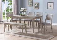 Ana Rectangular Table with Six Chairs
