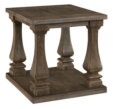 Johnelle Gray Rectangular End Table