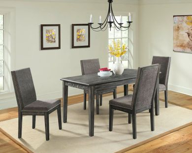 South Paw Dining Table with Four Chairs