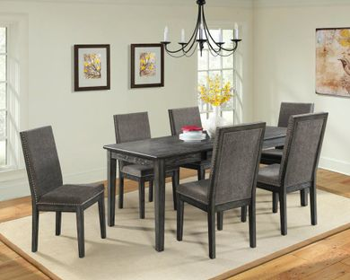 South Paw Dining Table with Six Chairs