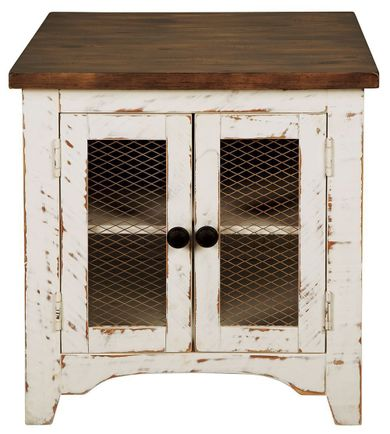 Wystfield White and Brown End Table