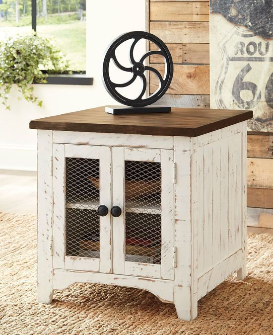 Picture of Wystfield White and Brown End Table