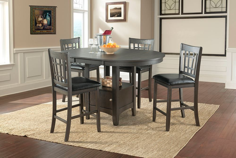 Picture of Max Grey Pub Table with Four Chairs
