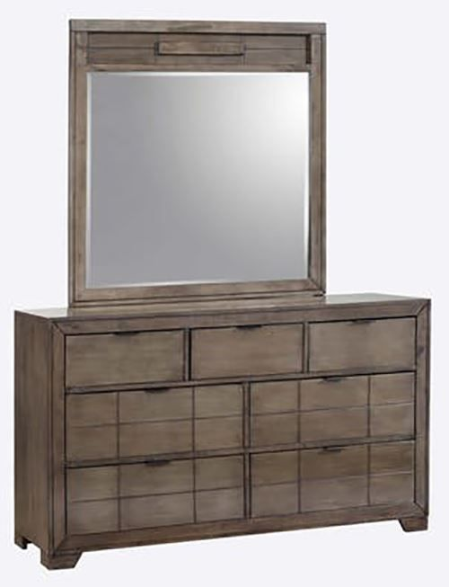 Picture of Logic Grey Dresser and Mirror