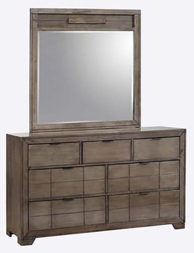Logic Grey Dresser and Mirror