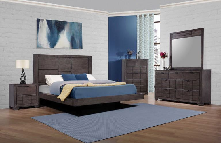 Picture of Logic Grey King Bed Set