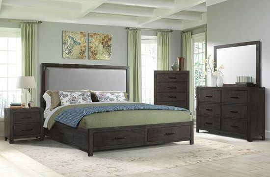 Picture of Shelby King Upholstered Bed Set
