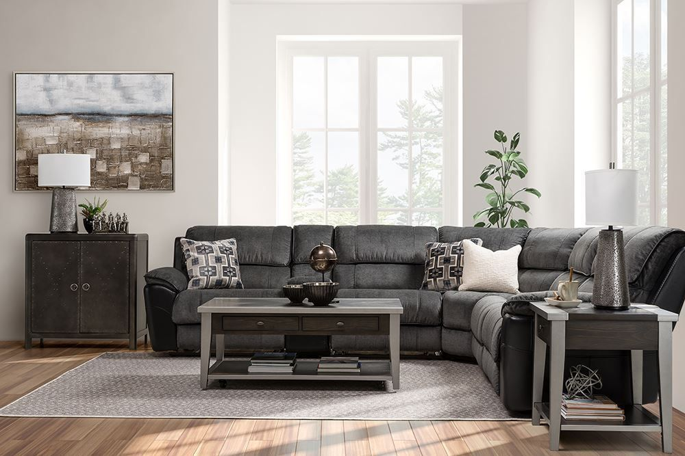 Picture of Fred Coal Six Piece Reclining Sectional