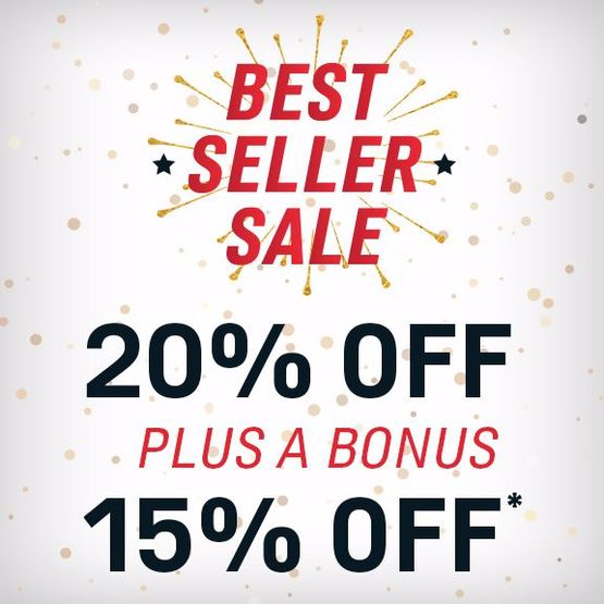 Best-Seller Sale | 20% off + 15% Bonus Savings*