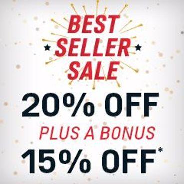 Best-Seller Sale | 20% off + 15% Bonus Savings*