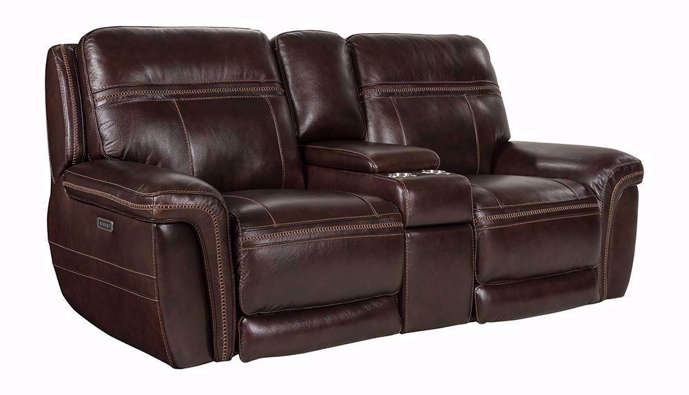 Picture of Lhorn Black Oak Power Reclining Console Loveseat