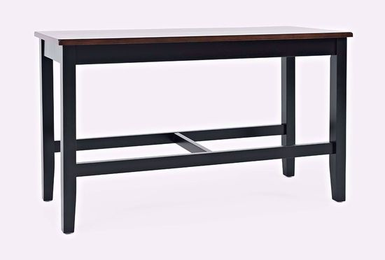 Picture of Asbury Park Black Counter Table with Two Stools and One Bench