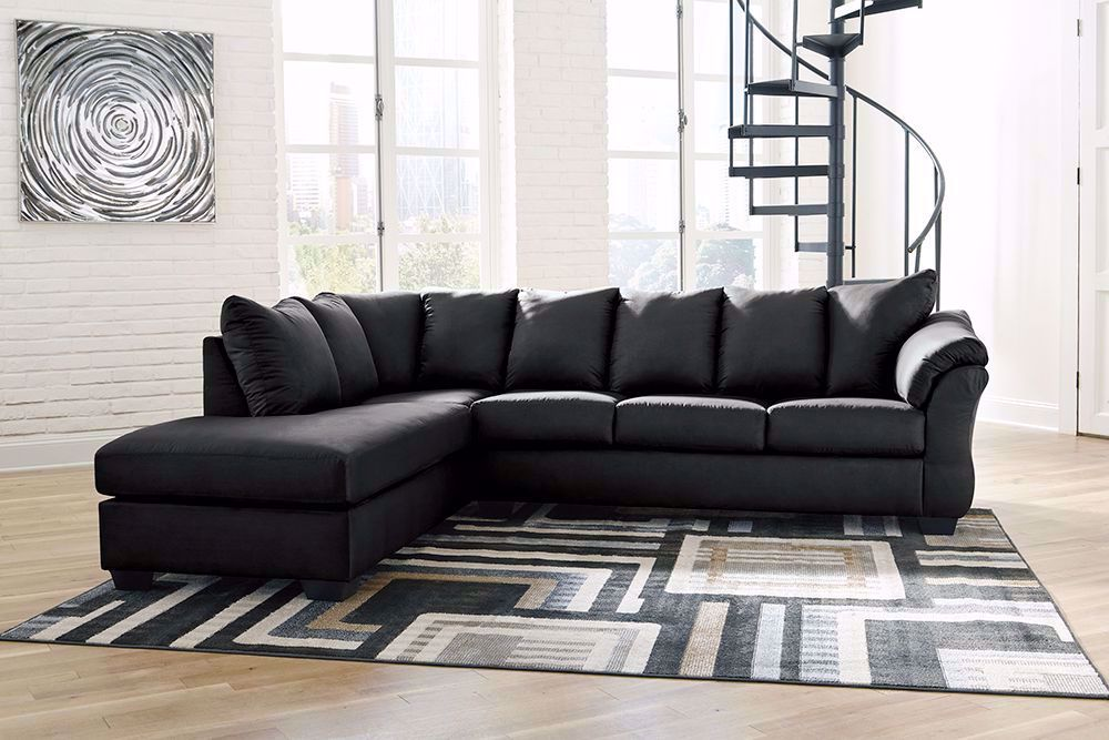 Picture of Darcy Black Two Piece Sectional