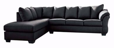 Darcy Black Two Piece Sectional
