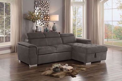 Ferriday Taupe Loveseat with Chaise