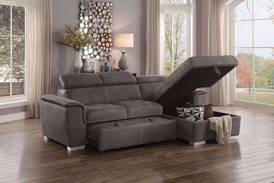 Picture of Ferriday Taupe Loveseat with Chaise