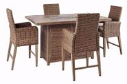 Beachcroft Bar Firepit Table with Four Stools
