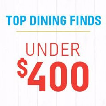 Top Dining Finds Under $400