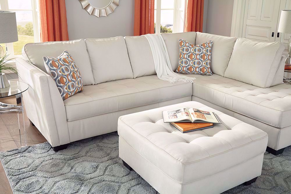 Picture of Filone Ivory Accent Ottoman