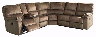 Urbino Mocha Three Piece Reclining Sectional