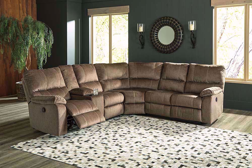 Picture of Urbino Mocha Three Piece Reclining Sectional
