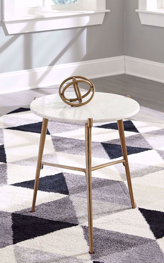 Picture of Chadton White and Gold Accent Table