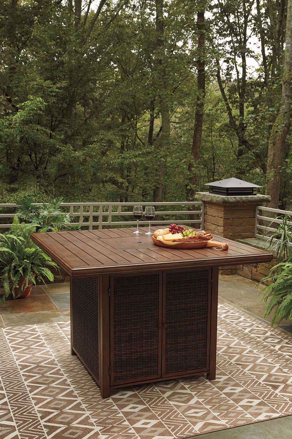 Picture of Paradise Trail Bar Firepit Table