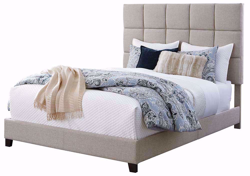 Picture of Dolante Tan Queen Upholstered Bed Set