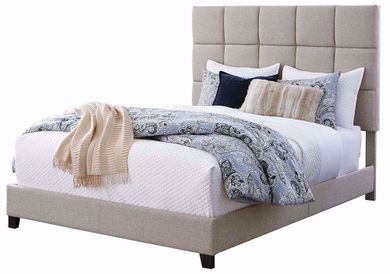 Dolante Tan King Upholstered Bed Set