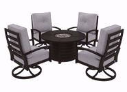 Castle Island Firepit with Four Chairs