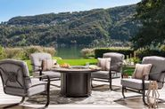 Melrose Round Firepit with Four Chairs