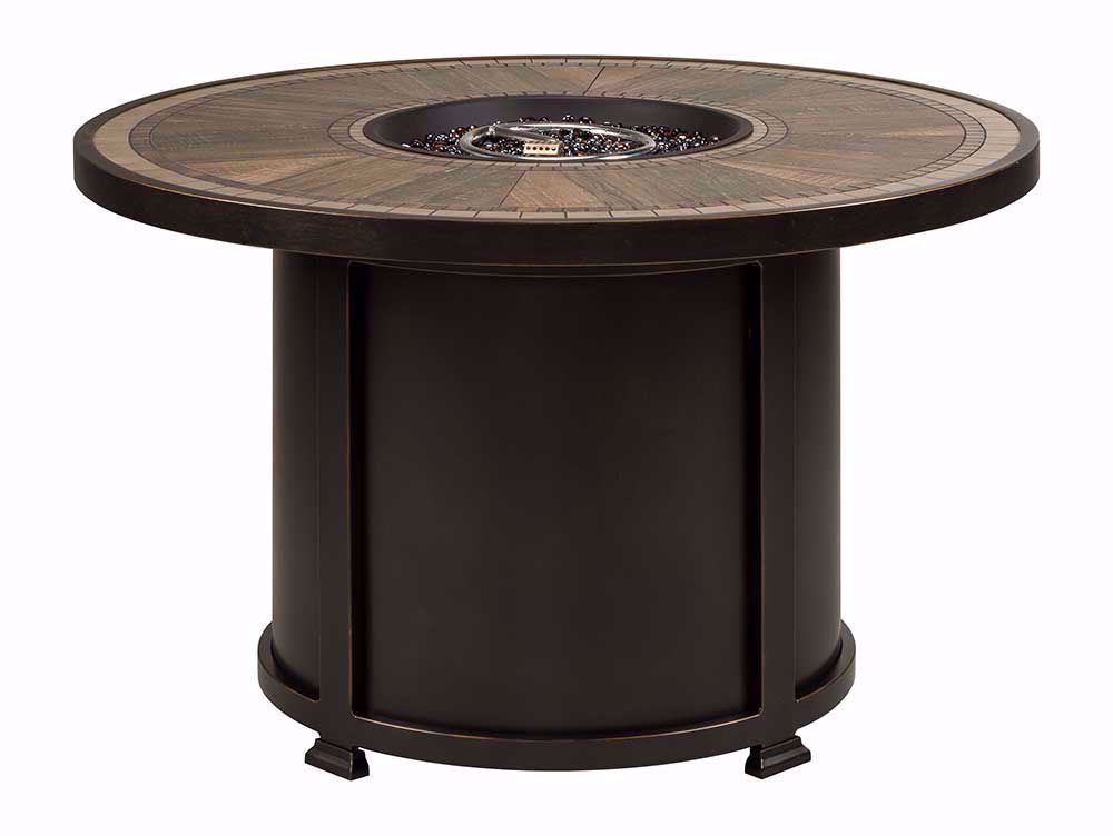 Picture of Huntington Firepit with Four Davington Swivel Rockers