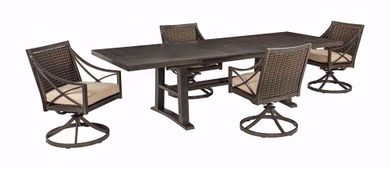Davenport Extention Table with Four Swivel Rockers