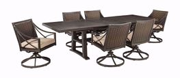 Davenport Extention Table with Six Swivel Rockers