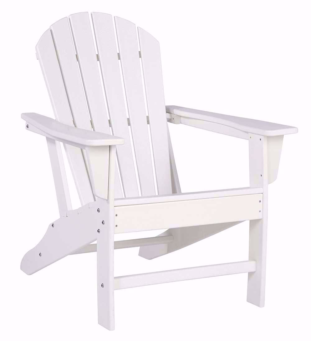 Picture of Sundown Treasure White Adirondack Chair with End Table