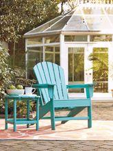 Sundown Treasure Turquoise Adirondack Chair and End Table