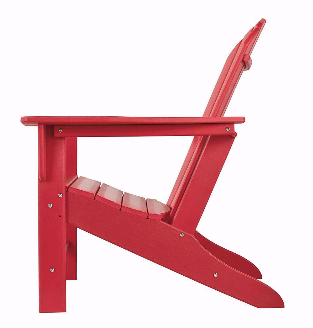 Picture of Sundown Treasure Red Adirondack Chair with End Table